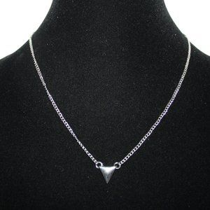 Silver triangle necklace adjustable